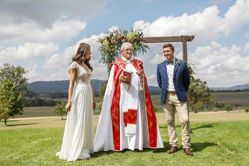 Wedding ceremony set up Hunter Valley Wedding