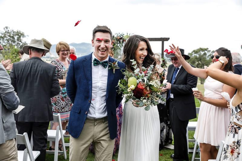 Bride and Groom Hunter Valley Wedding