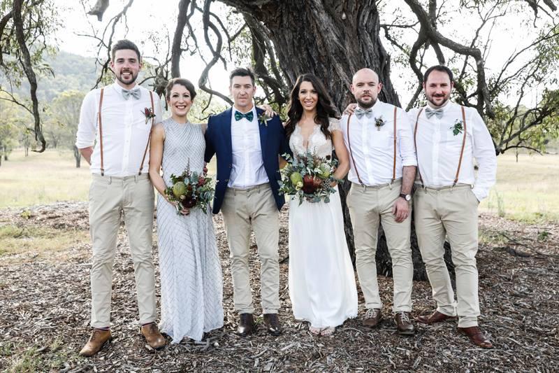 Wedding party, Hunter Valley Wedding