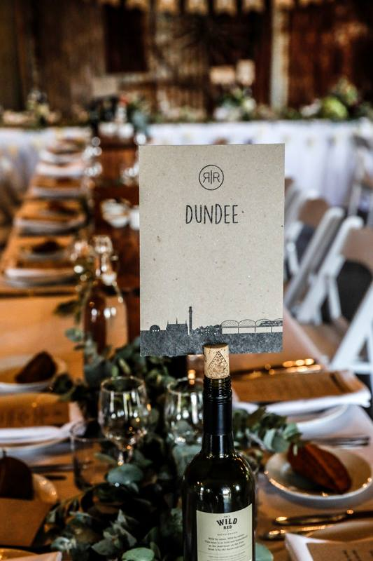 Wedding Decorations and Table Numbers