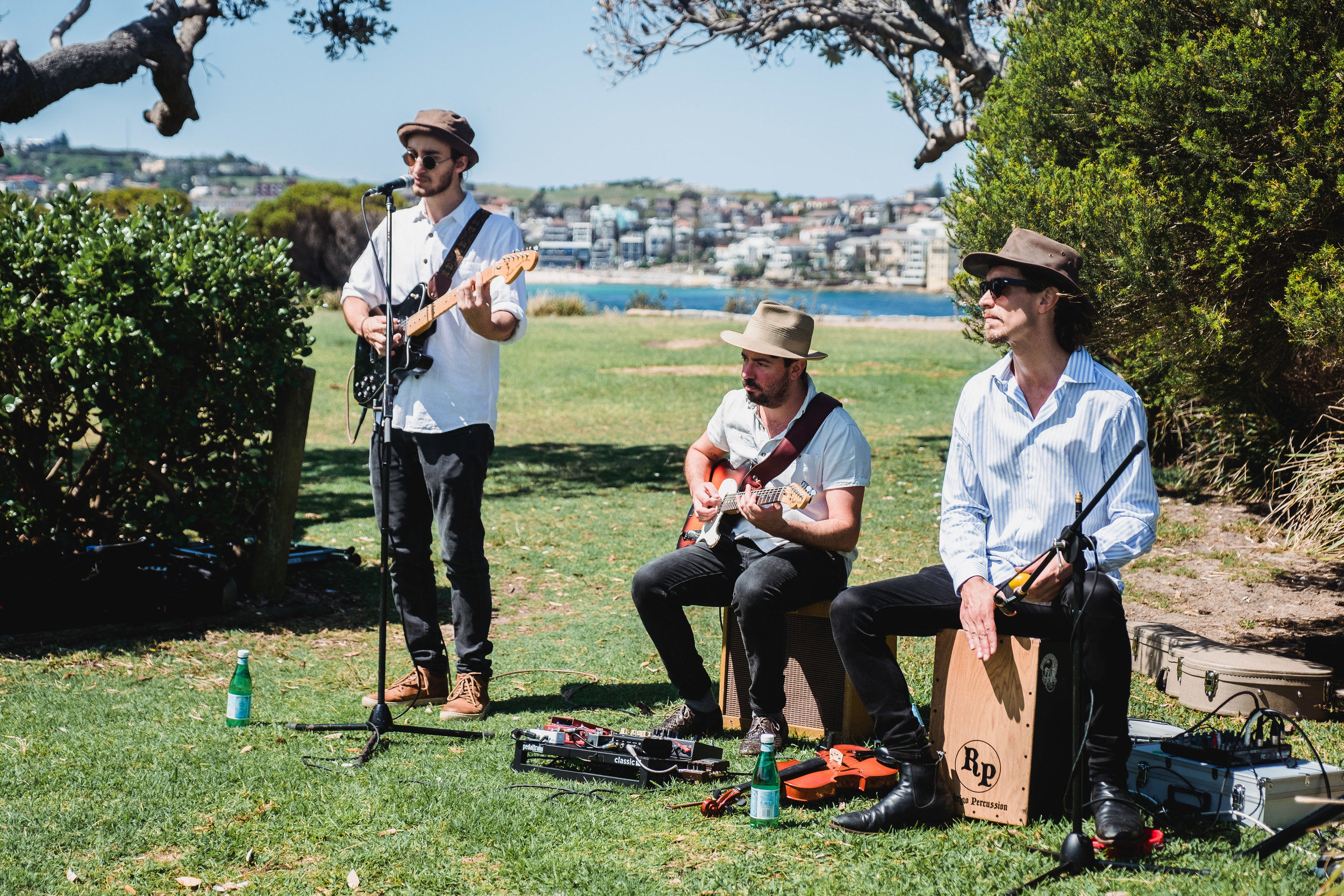 Band playing at Marks Park for a Bondi Beach Wedding
