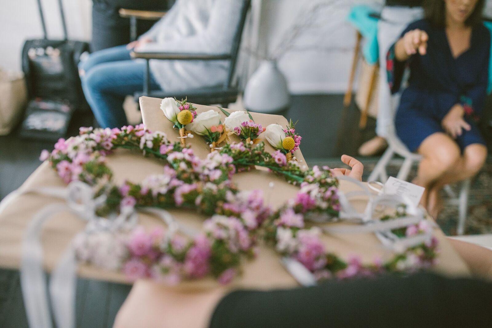 Bridesmaid Flower Crowns