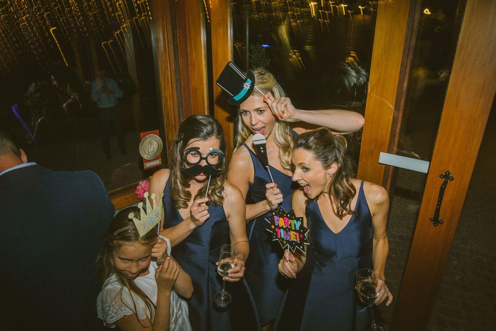 Photo booth bridesmaids