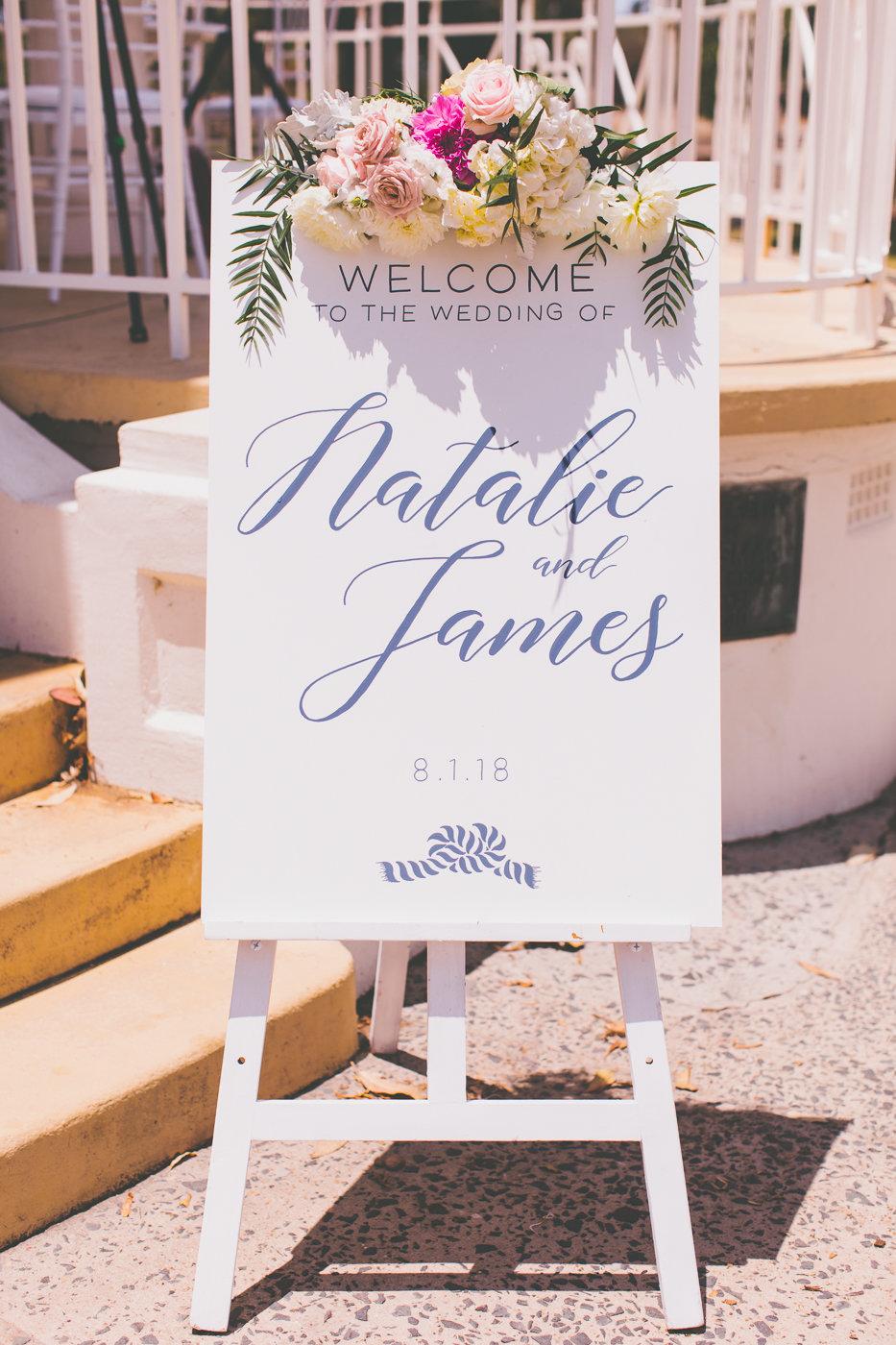 Wedding Sign Balmoral Wedding Ceremony