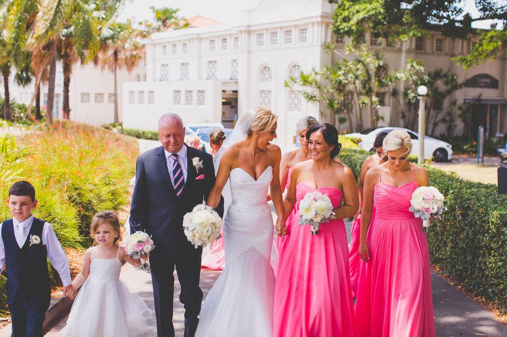 Bride and Bridesmaids at Balmoral Wedding Ceremony at Balmoral Rotunda