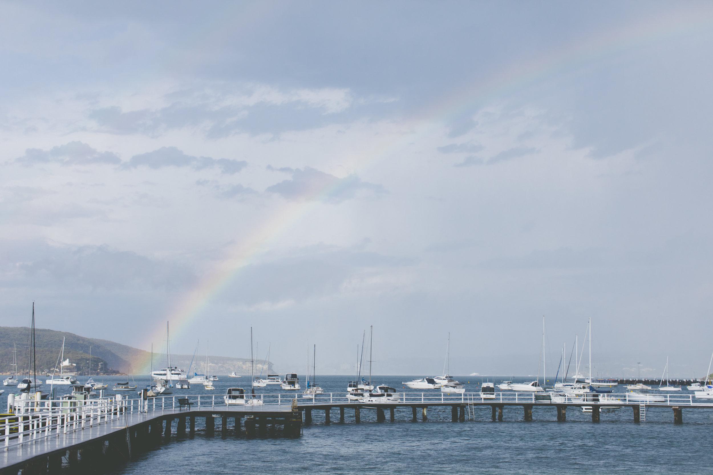 Rainbow at Balmoral Wedding