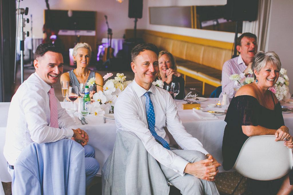 Wedding Guests at The Public Dining Room Balmoral Sydney Wedding Reception