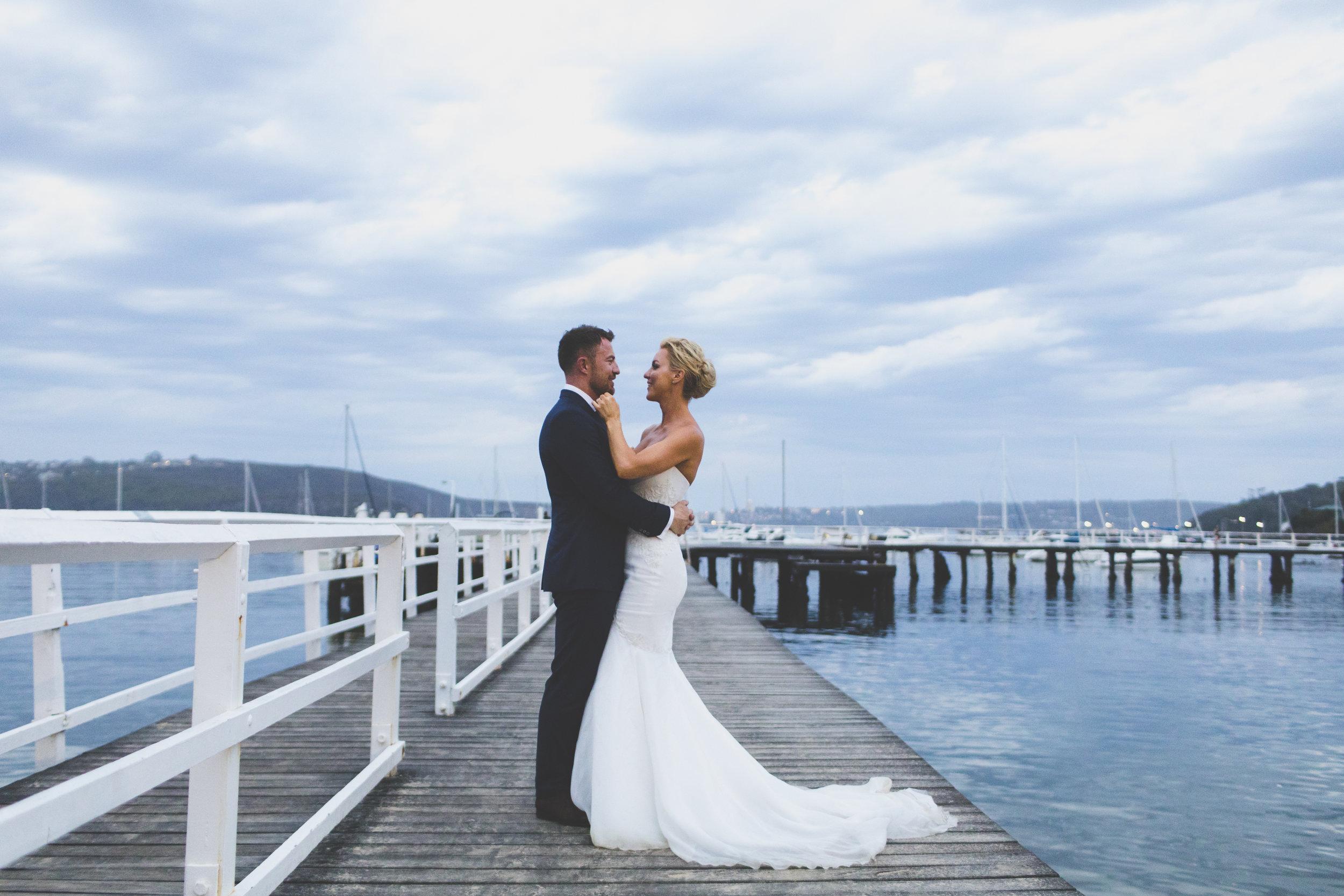 Bride and Groom Wedding Photos at The Public Dining Room Balmoral Sydney Wedding Reception