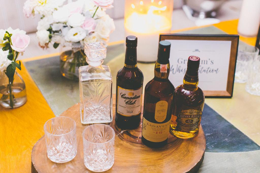 Whisky Station at The Public Dining Room Balmoral Sydney Wedding Reception