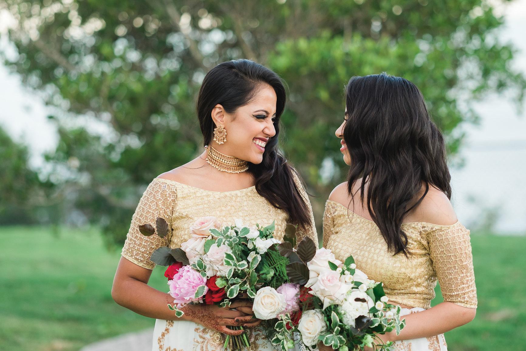 Bridesmaids at wedding Panorama House