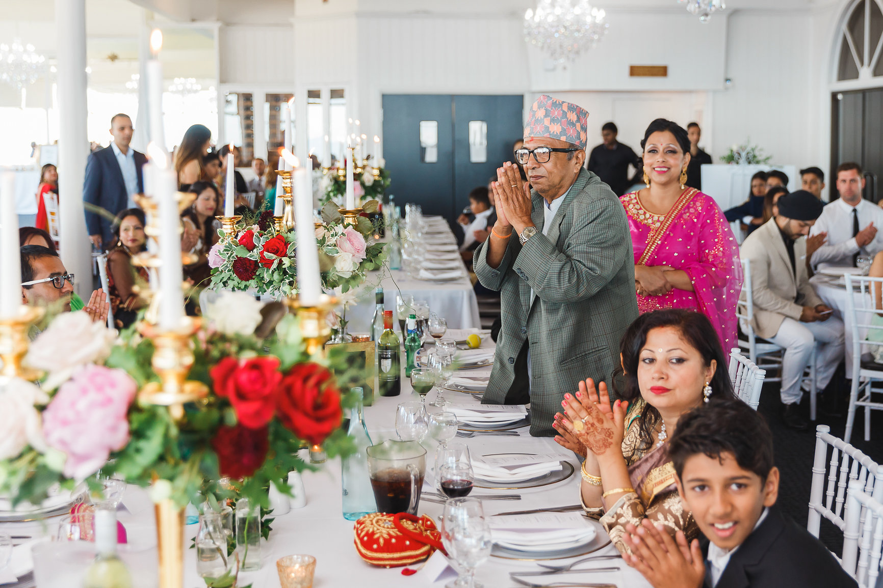 Guests at Nepalese Wedding Panorama House Bulli, Wedding Flowers