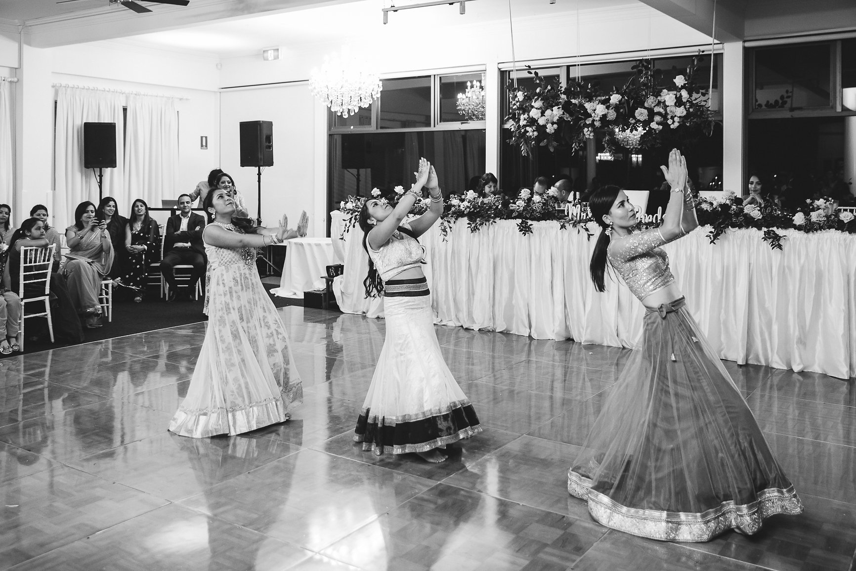 Nepalese dancing at Wedding Panorama House Bulli