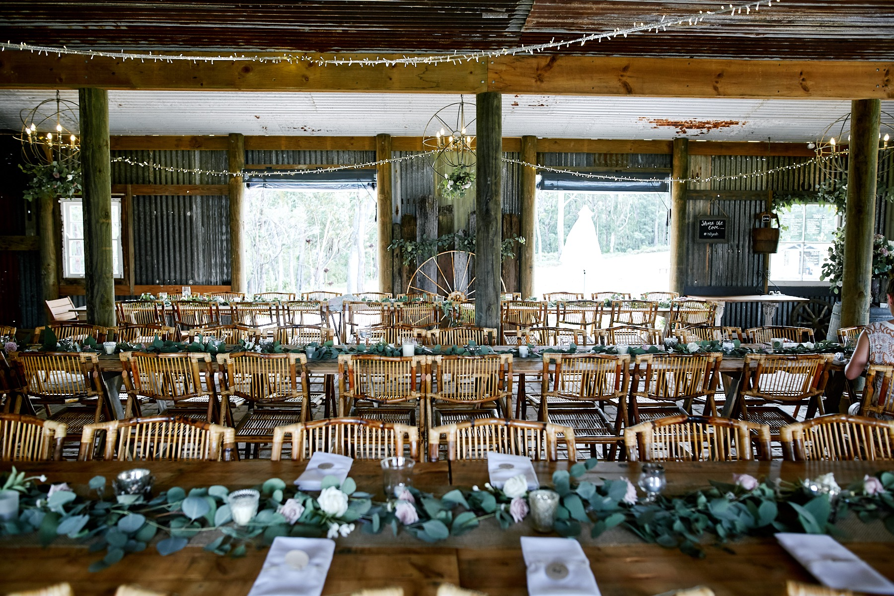 Wedding reception set up at The Stables of Somersby. Wedding Coordination, Wedding Planning and Day Of Styling by Samantha Burke Events