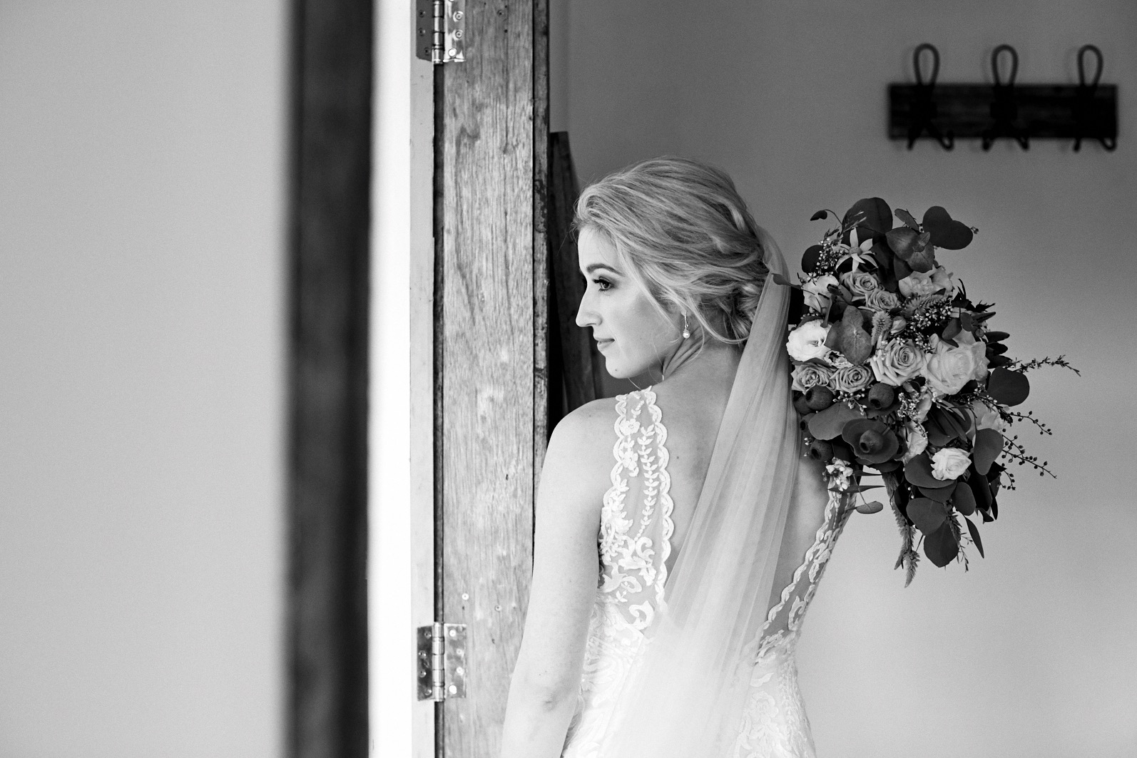 Bride getting ready for her wedding at The Stables of Somersby