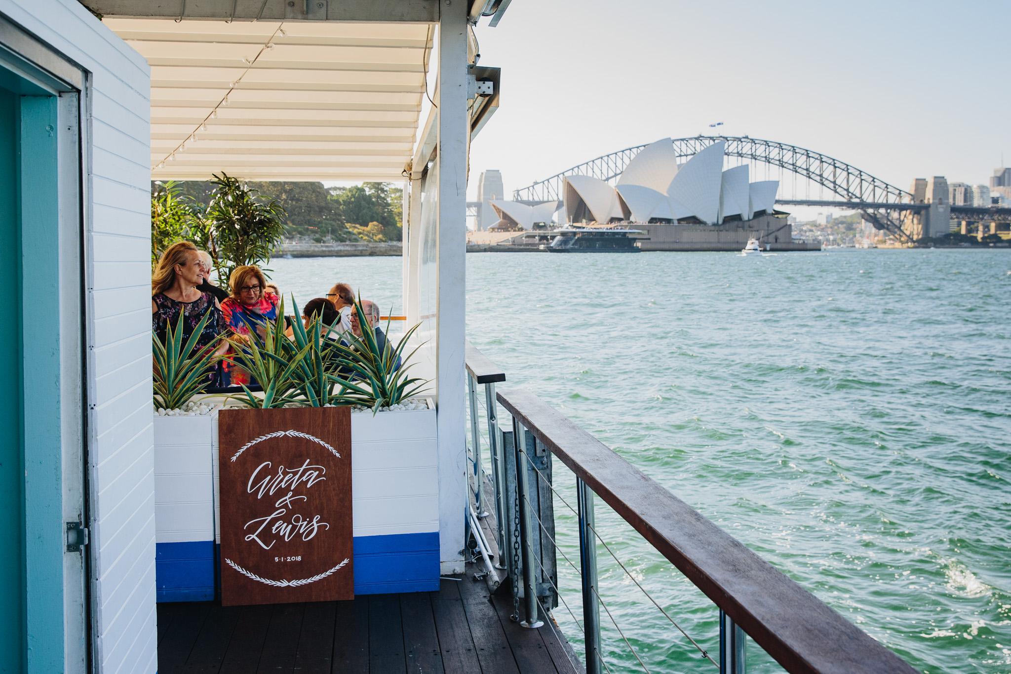 Wedding at The Island Sydney Harbour