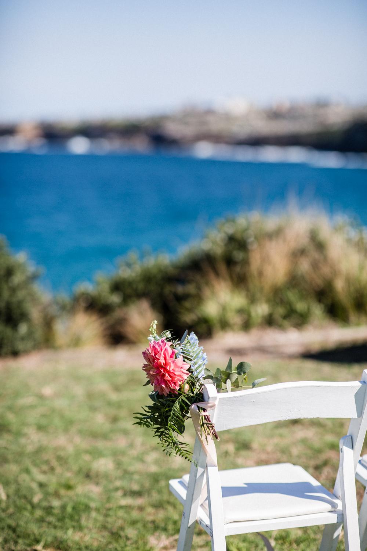 FLOWERS CHOSEN BY SYDNEY WEDDING PLANNER FOR BONDI BEACH WEDDING