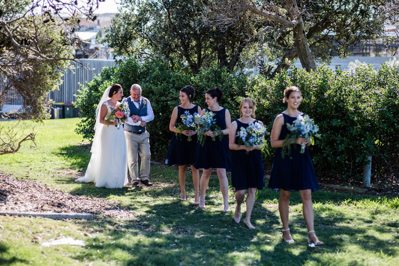 BRIDE ARRIVING AT MARKS PARK FOR HER BONDI BEACH WEDDING PLANNED BY SYDNEY WEDDING PLANNER
