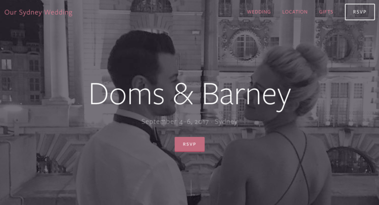 wedding websites - We build beautiful, functional websites that help you tell guests all about your Wedding Day as well as providing RSVP functionality and guest management tools.