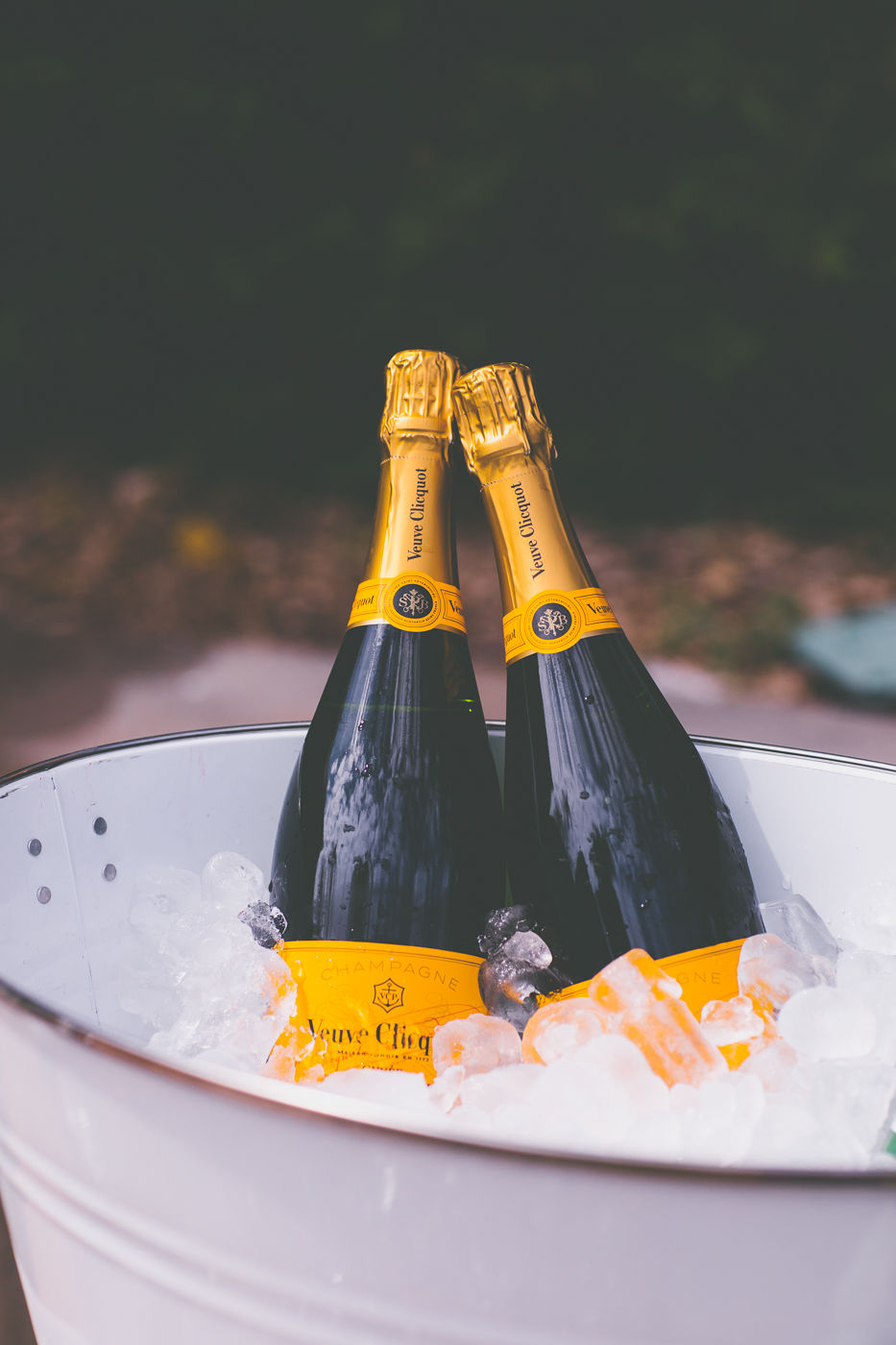 Two bottles of champagne at wedding Lion Gate Lodge organised by Sydney wedding planner Samantha Burke Events
