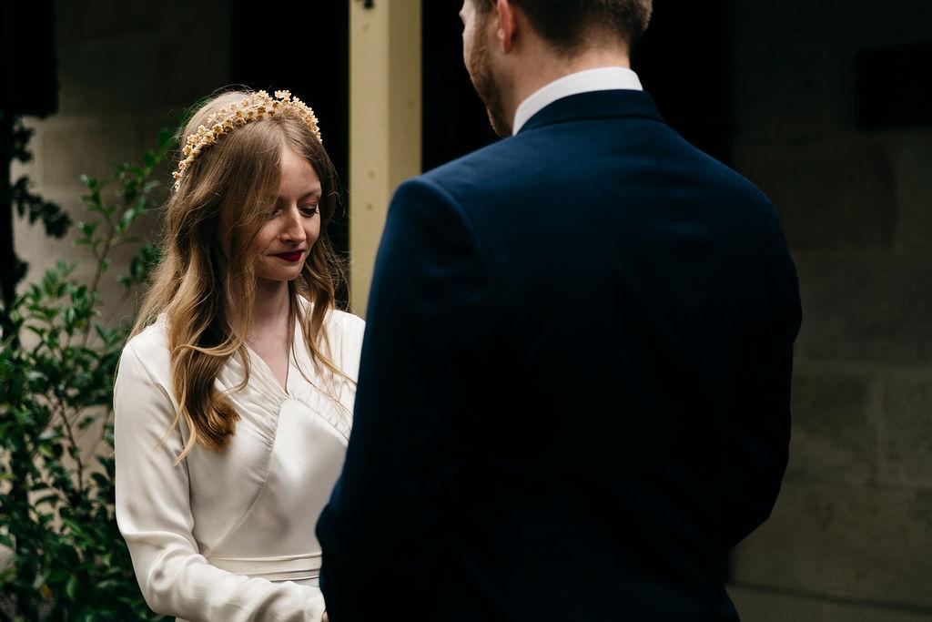 Wedding ceremony at Balmain Cottage, Sydney. Wedding Coordinator Samantha Burke Events