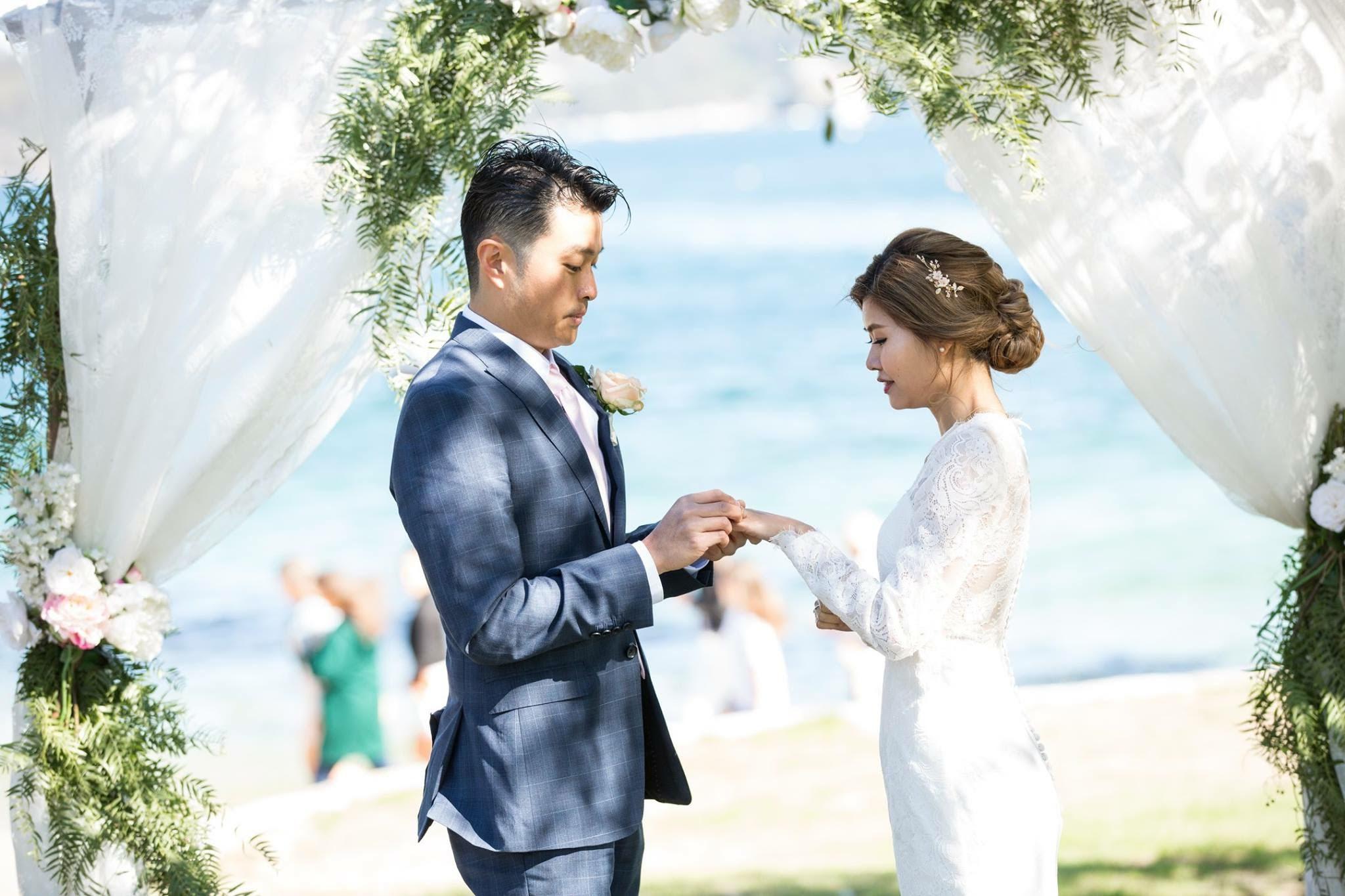 Bride and groom at Watsons Bay Wedding - Sydney Wedding Planner Samantha Burke Events