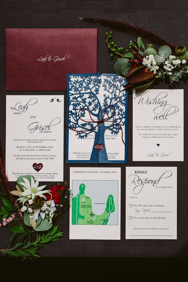 WEDDING INVITATIONS WITH BEAUTIFUL NATIVE FLOWERS