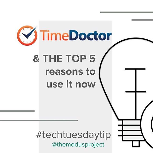 Feel like you could be using your time more efficiently? See the 5 reasons below why using @TimeDoctorapp might be the prescription you need: _ 1️⃣ TIME TRACKING! Tracks the total time worked, and a breakdown on how much time is spent which projects (or clients) and tasks _ 2️⃣ TIME ALERTS!  Get pop-up alerts if you sit idle for too long, or if you stray onto a non-work app or website, thus keeping you on task _ 3️⃣ ACTIVITY REPORTS! Several reports to choose from to mark your progress, including viewing which websites you spend the most time on _ 4️⃣ INTEGRATION! Track time spent on projects & tasks from those other platforms, such as Asana, Salesforce, Zoho, Quickbooks, Slack, Google, and more _ 5️⃣ GET PAID! Have billable hours? Use the tracking to pay or request pay directly with PayPal, Payoneer, TransferWise, or any other method that you choose. No fees are deducted by Time Doctor for these payments. . . . #themodusproject #findyourmodus #smallbusiness #entrepreneur #businessowner #hardworkpaysoff #consultations #dailygrind #selfmade #moveforward #movementforward #smallbusinesslove #findyourmovementforward #timedoctor #timemanagement #tipsandtricks #techtuesday #techtuesdays