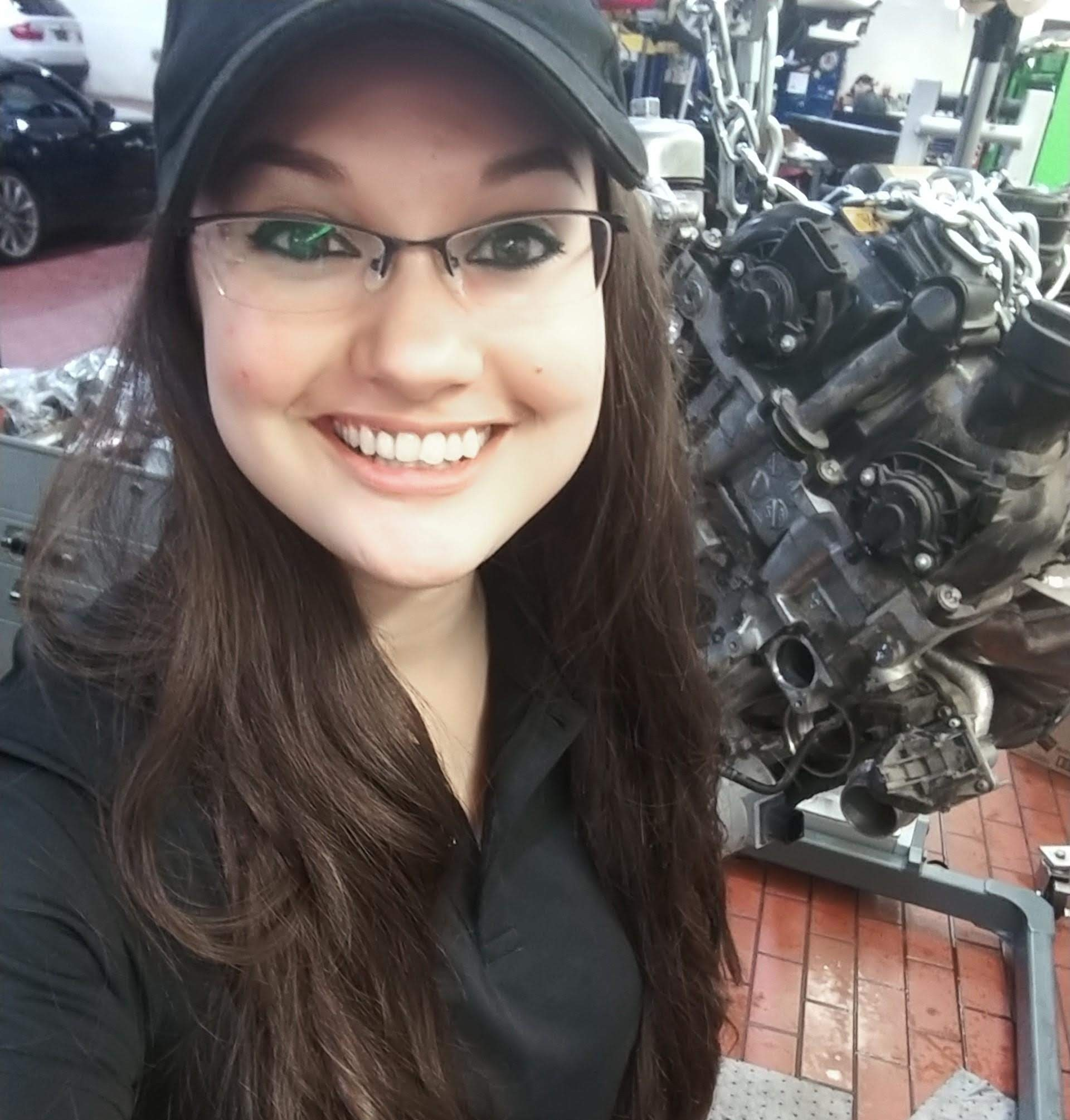 Danielle (Danni) hamilton - Level 3 Technician for BMW of San Antonio and an Adjunct Professor at St.Phillip's College teaching Introduction to Automotive.