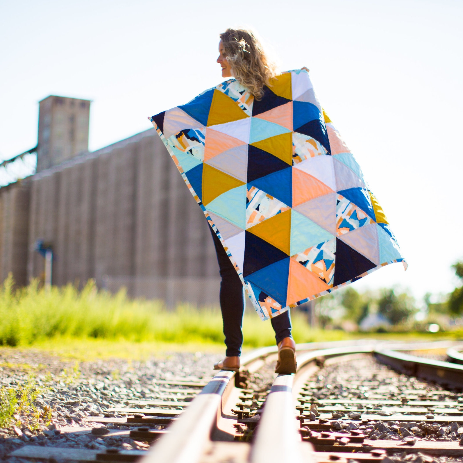 Bright + Modern Triangle Quilt