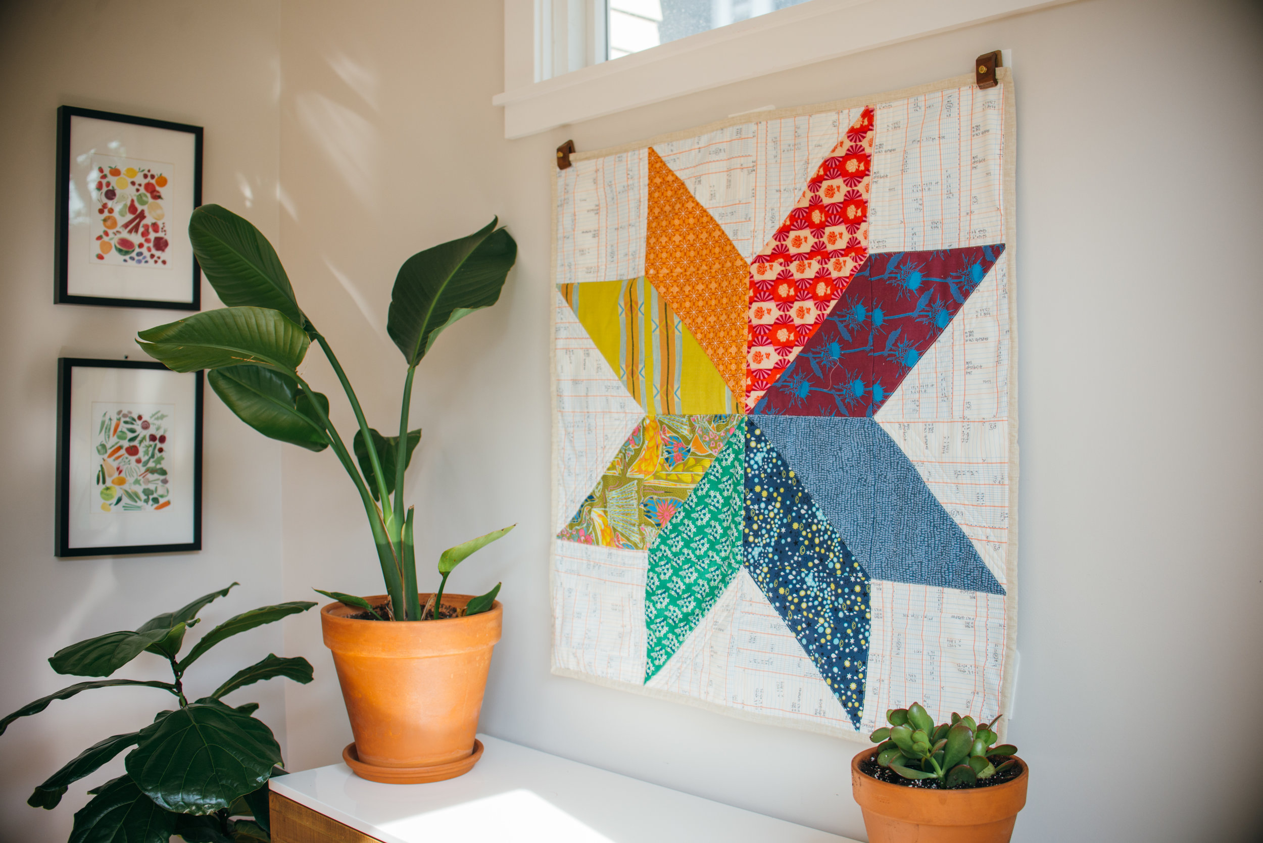 Big Color Star Quilt