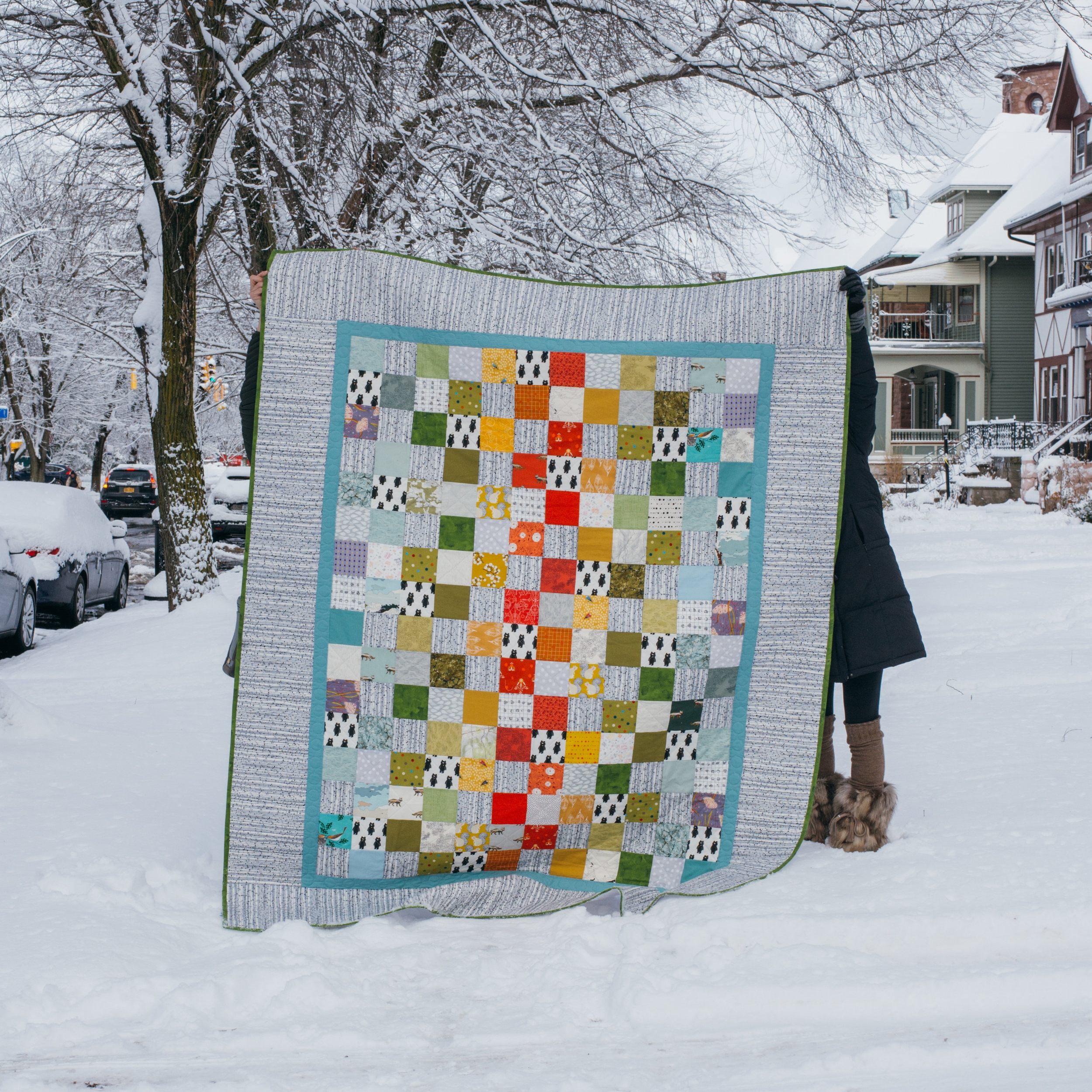 Woodsy + Colorful Twin Quilts