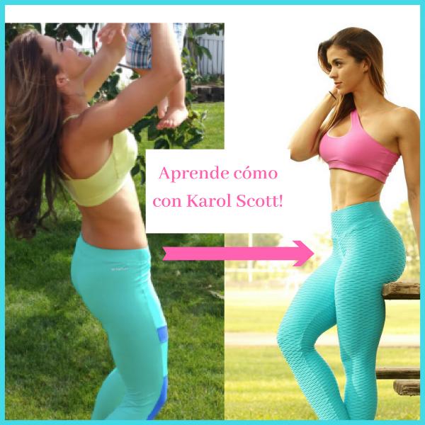 karol scott gluteos antes y después