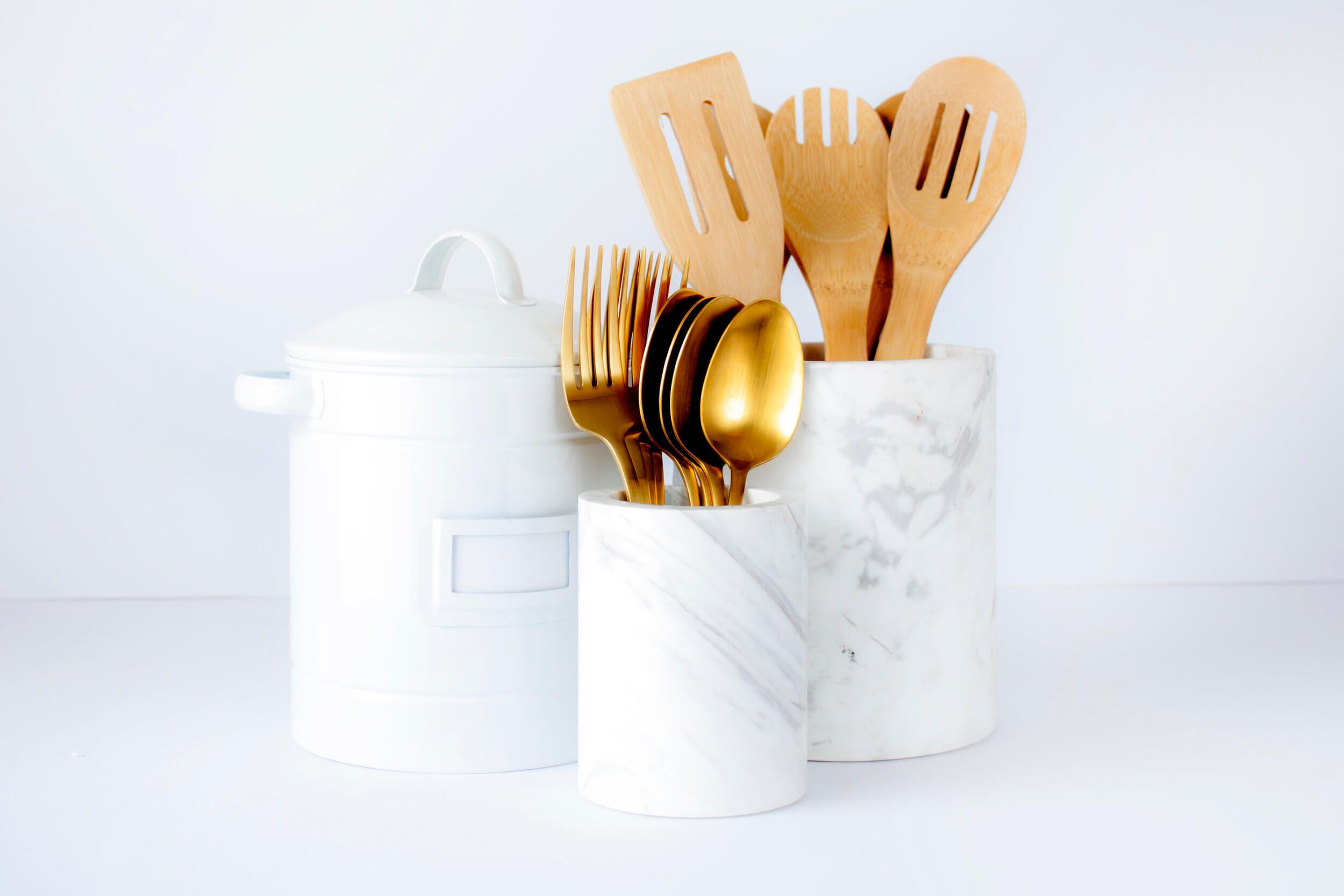 Houston professional organizer kitchen organization utensil storage