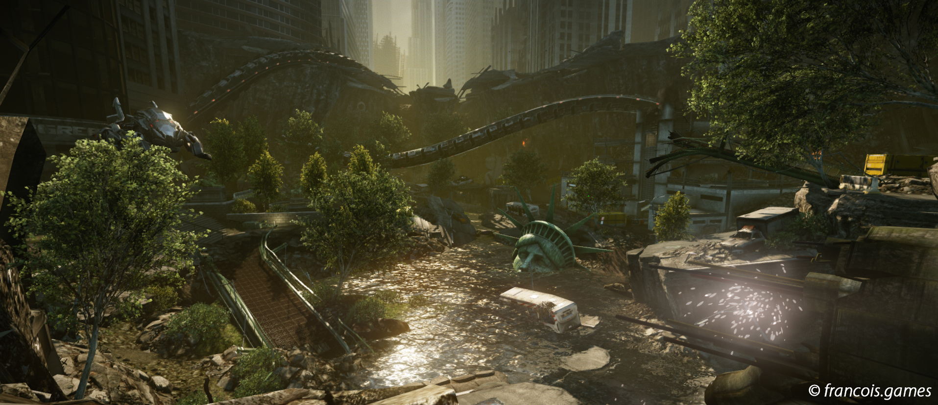 Flooded Streets - Level Design by Will GreenoughClick for larger picture