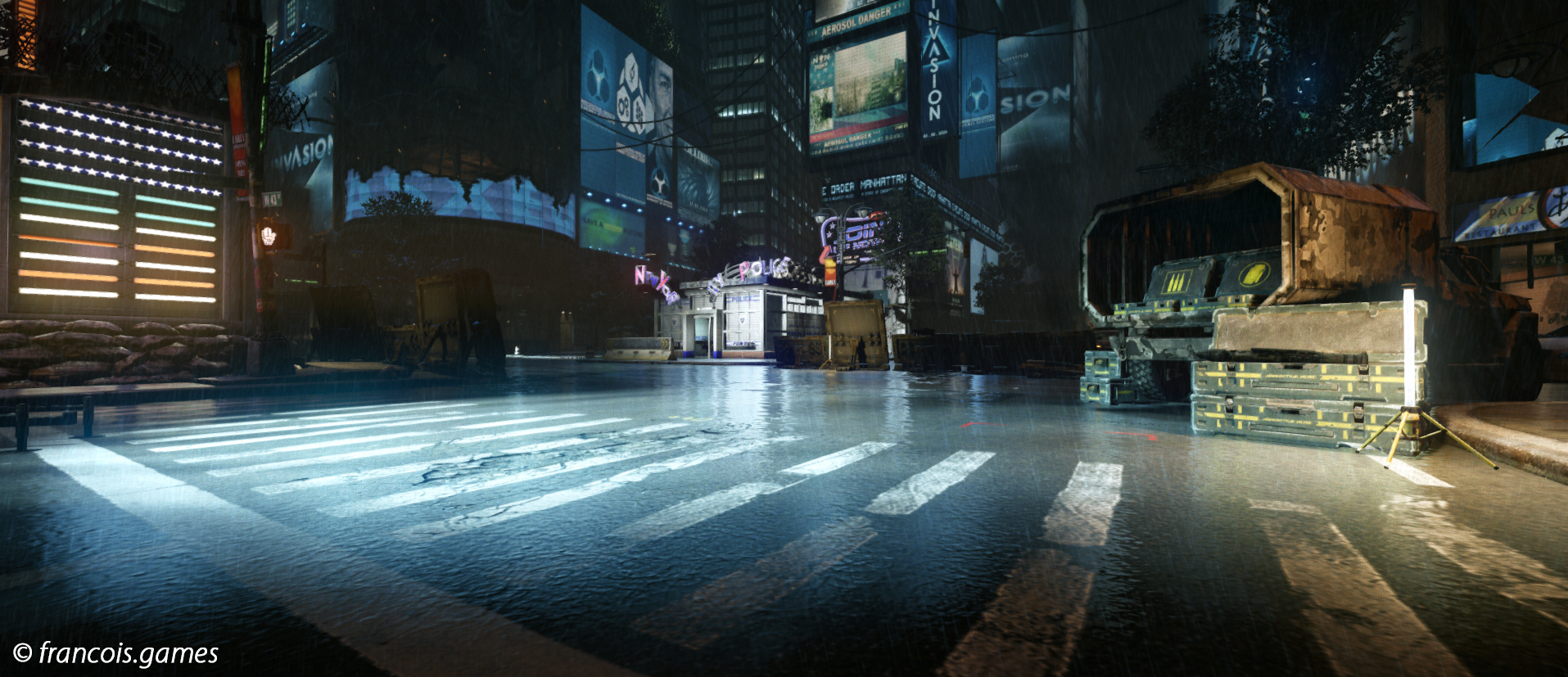 Times Square - Level Design by Rodrigo SantoroClick for larger picture