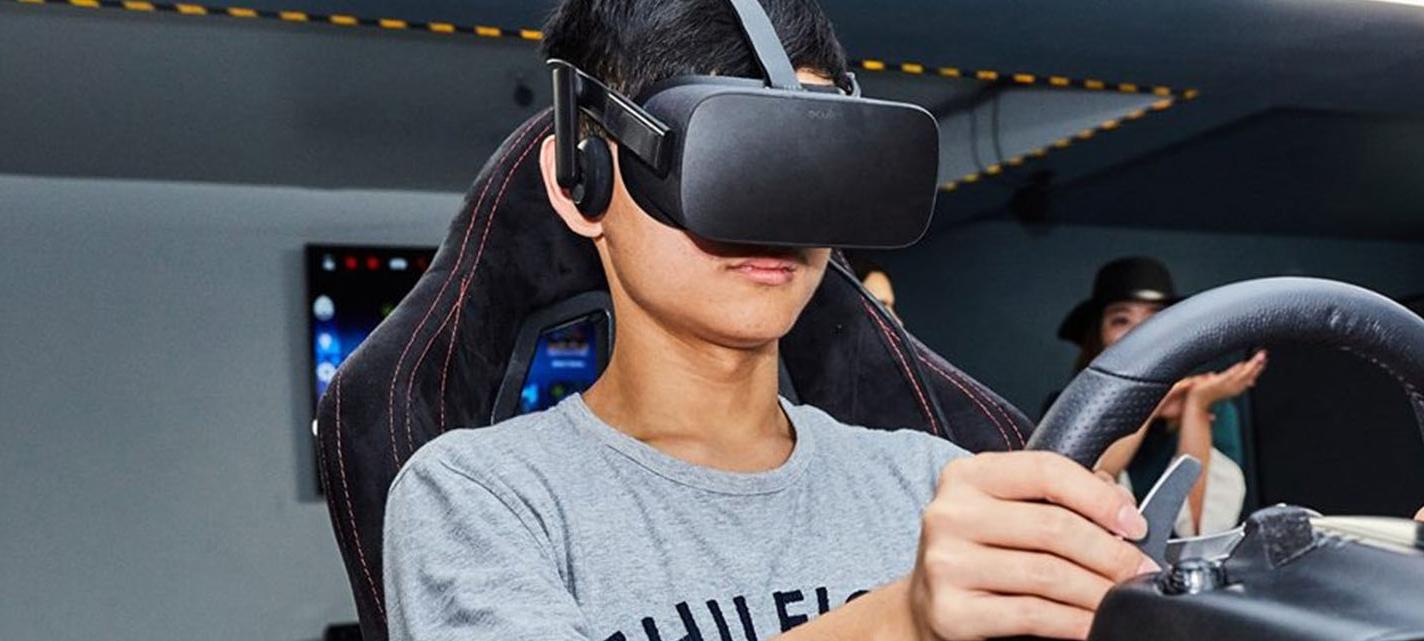 VR Racing Simulator Kids Event