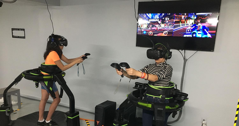 Virtual Reality Treadmill Arcade NYC