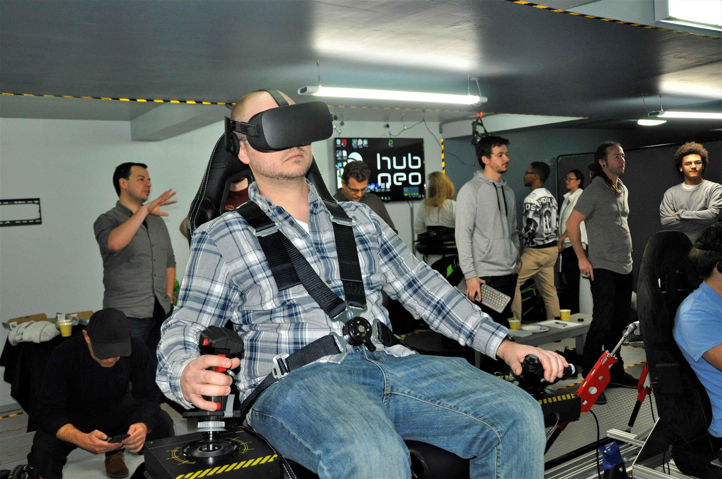 VR Flight Simulator Lab New York