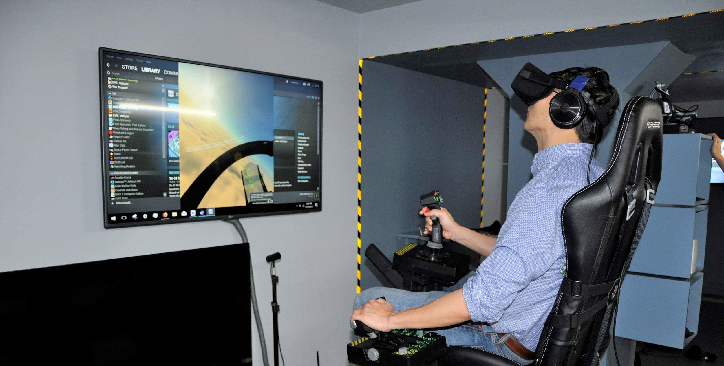 VIrtual Reality Flight Simulator Arcade New York