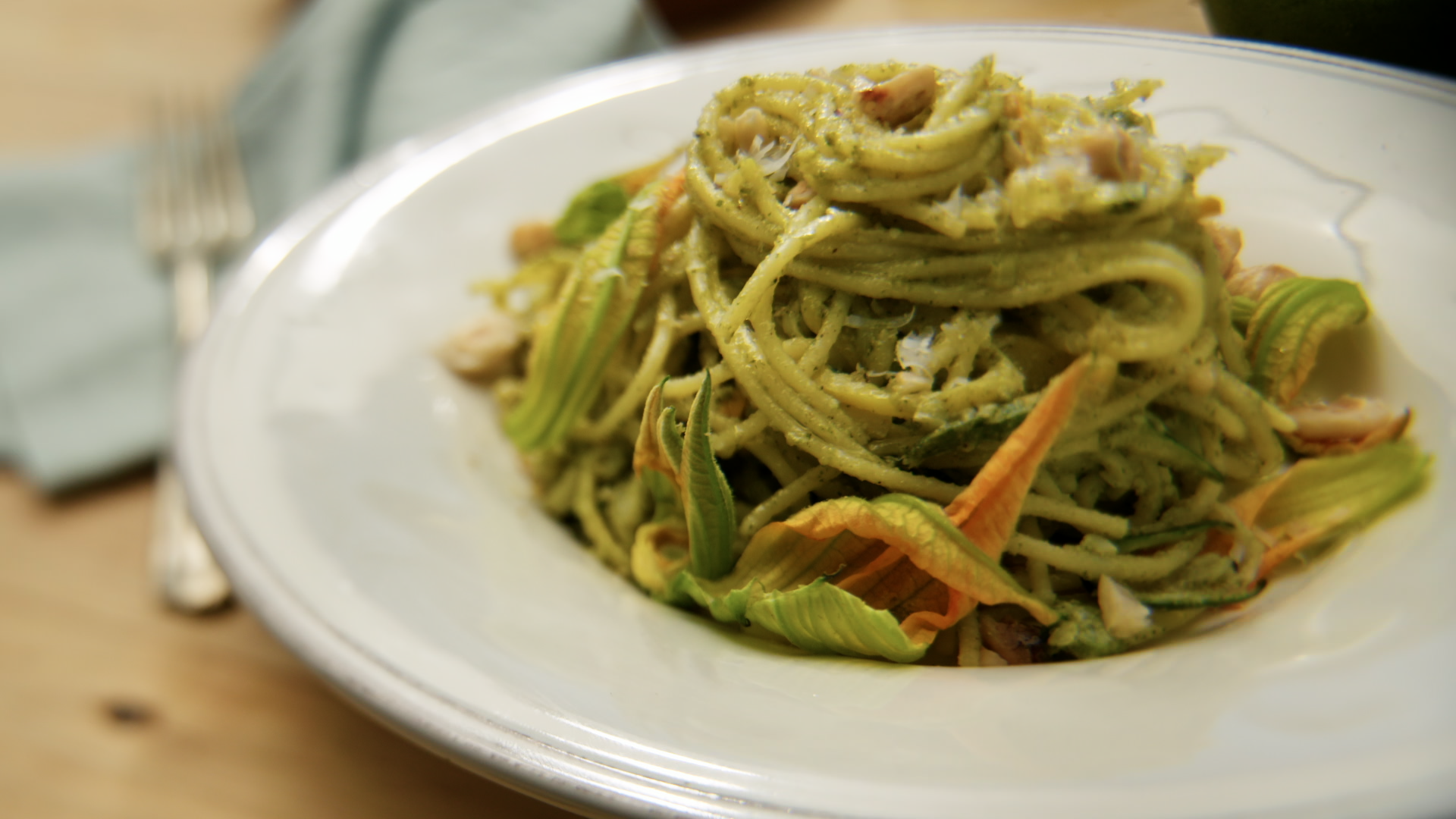 Zucchini and Pesto Pasta