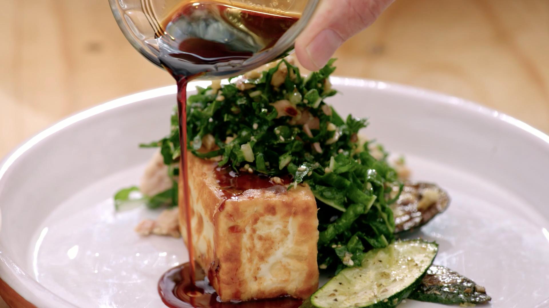 Fried Silken Tofu with Tuna