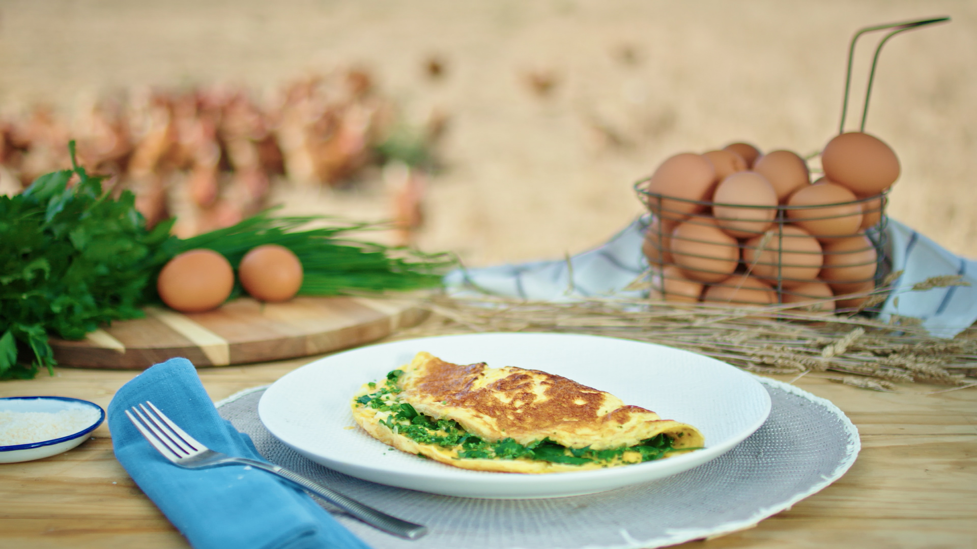 Herb and Feta Omelette