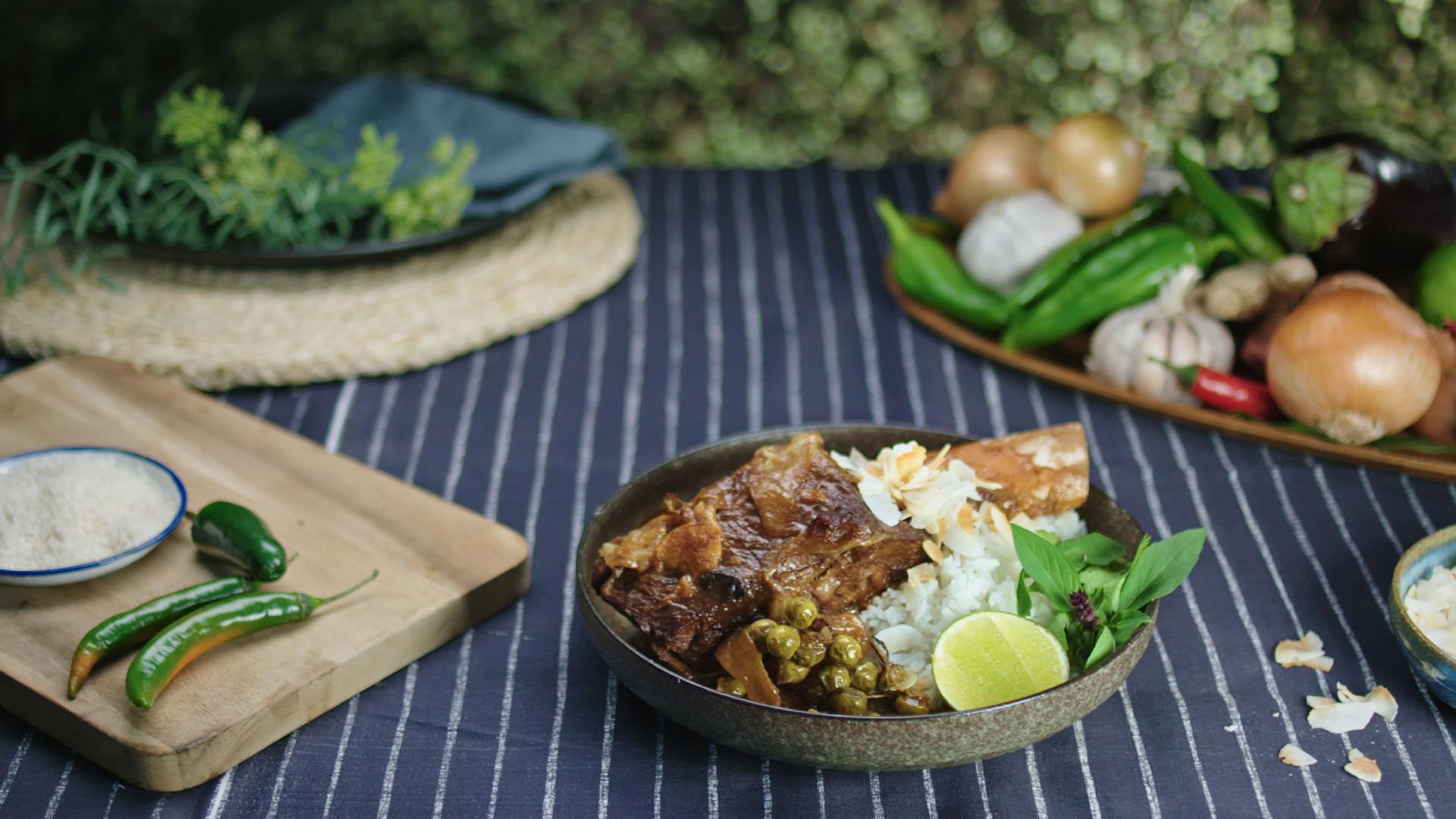 Thai Green Curry Beef Short Ribs