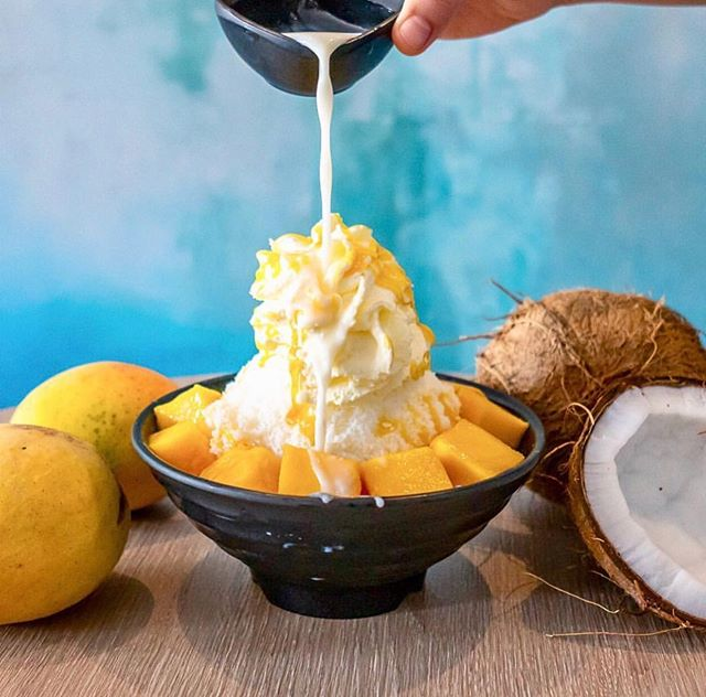 🆙SAY WHAT???🍋🍋 The All Time favourite MANGO BINGSU is back!!! Thanks to the warmer weather and farmers. We only use WA's fresh mango! Sweet and juicy! ☀️☀️