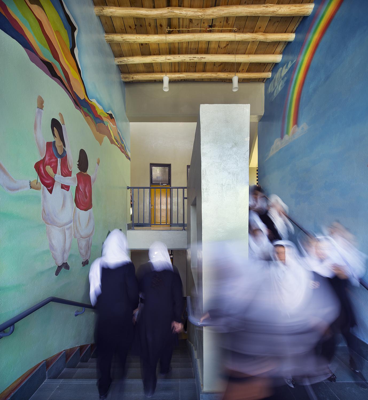 Goharkhatoon Girl School stairs@Nic Lehoux.jpg