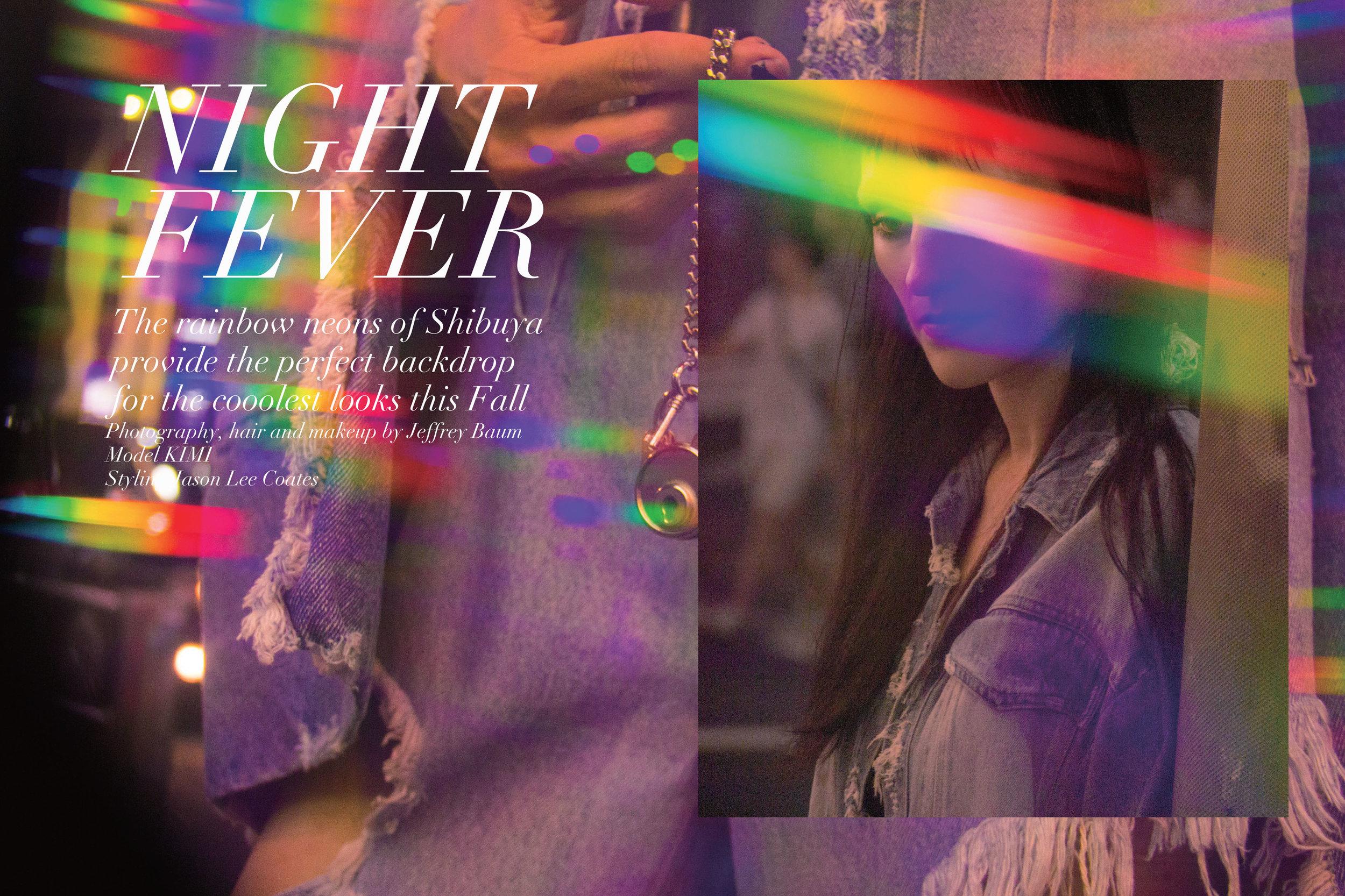 NIGHT FEVER: Left, SILVER DOLLAR denim jeans; Right, RYAN denim jacket, both by PONY STONE.