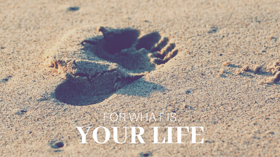 For what is your life?