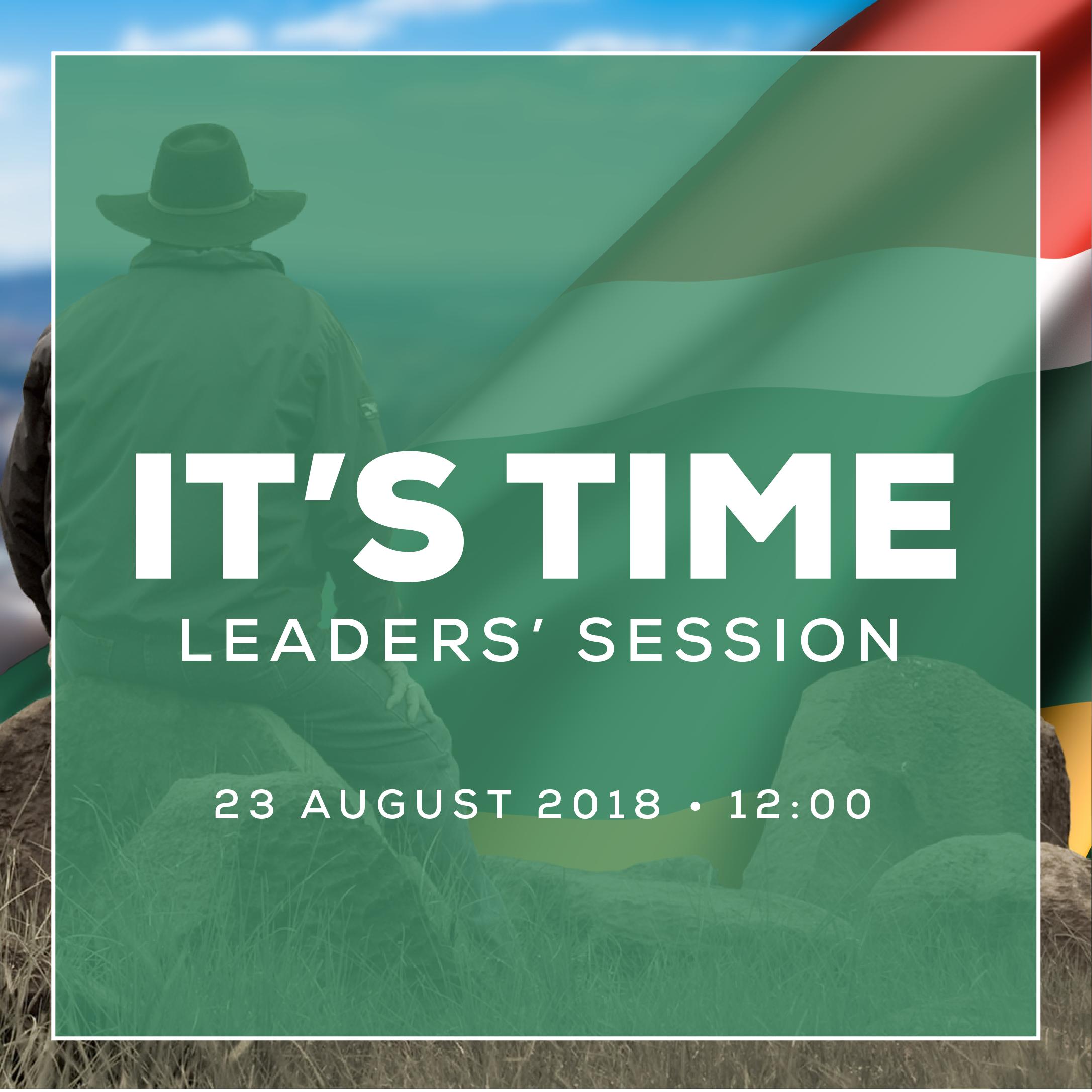LEADERS' SESSION - 23 AUGUST 2018 • 12:00Moreleta Park, Moreletapark CongregationMini Auditorium (Admin Building), Pretoria.Registration closes 22 August 2018.