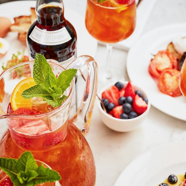 Bank holiday brunches, done. ✔️ Things that make the working week tolerable: looking forward to the next brunch. ✔️ @pimmsgb cocktails are on the menu throughout June. Try some. ✔️ #pimmsbrunch #pimmsoclock