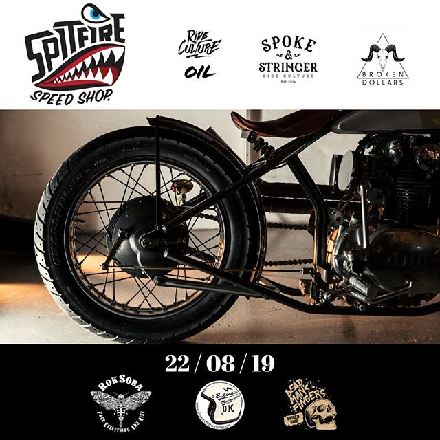 TICKETS LIVE for our Next Motorcycle Lifestyle Event // Ride Culture Oil Presents: Spitfire Speed Shop with Broken Dollars Band at Spoke & Stringer, Bristol.  Join us in welcoming Spitfire Speed Shop to Bristol - showcasing their collection of Custom Motorcycles, also seen at this years Bike Shed Show in London, Apparel & exciting new ventures.  Headlined by @spitfirespeedshop @spokeandstringer & @rideculture_oil  Supported by @deadmansfingers @roksoba & @eclecticmotorcycles  Live music by @brokendollarsuk  Tickets include Entry, Live Music, Drink on Arrival & Streetfood by Spoke & Stringer Kitchen #rideculture #spokeandstringer